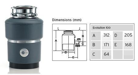 Insinkerator Evolution 100 Garbage Disposal For 220 Volt