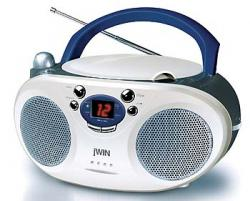 Jwin JX-CD404 110-220Volt 50/60Hz portable Boombox with 2 Digit LED Display