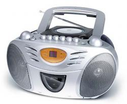 Jwin JX-CD428D 110-220 Volt 50/60Hz Boombox with top Loading CD Player, CD-R / RW Compatible