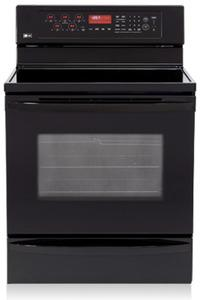LG LRE30757SB 5.6 cu.ft. Freestanding Smooth Black Electric Range , FACTORY REFURBISHED (FOR USA)