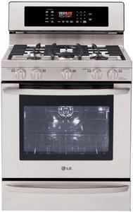 """LG LRG3097ST 30"""" Freestanding 5 Burner Gas Convenction Oven Range FACTORY REFURBISHED (FOR USA )"""