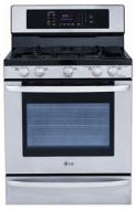 LG LDG3015ST 6.1 CU. FT. GAS DOUBLE RANGE STAINLESS STEEL FACTORY REFURBISHED (FOR USA )
