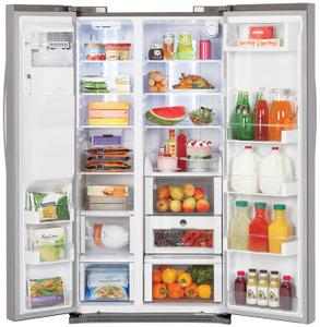 LG LSC24971ST 23.5 Cu. Ft. Counter-Depth Side by Side Refrigerator with Tall Ice/Water Dispenser - Open Box Brand New, Never Used