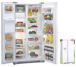 White Westinghouse MRRC25V8DW Side By Side Refrigerator