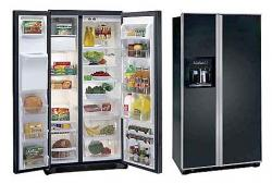 White Westinghouse MRVC25VBEB Side By Side Refrigerator