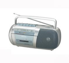SANYO M-X150F Portable Radio Cassette Recorder for 110-240 Volts