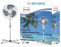 Multistar MS18 18 Inch Stand Fan 220-240Volt 50/60Hz
