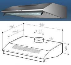 Multistar MUC30HDS Under cabinet range hood for 220 Volts