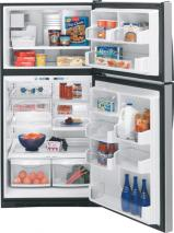 GE PTE22LBT WW PROFILE TOP MOUNT REFRIGERATOR FOR 220 VOLTS