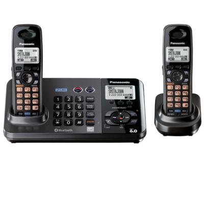 Panasonic KX-TG9382 DECT 6.0 PLUS 2-Line Cordless Phone with caller ID w/ 110/220V Adapter