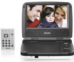 "Philips LD-702 7"" Portable Code Free DVD Player"
