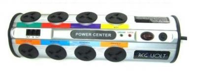 REGVOLT 2390  Universal 8-Outlet Power Strip with 2390 Joules Surge Protector-WORLD WIDE POWER SURGE PROTECTOR