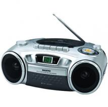 SANYO MCD-XJ790(SS) Portable CD Radio Cassette Recorder for 110-240 Volts