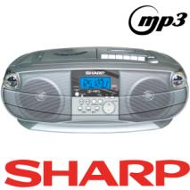 Sharp QT-MP5 boom box for 110-240 Volts