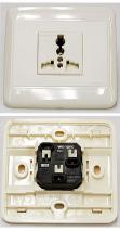 Receptacle UniWF6NR4S Single universal receptacle FOR 220V