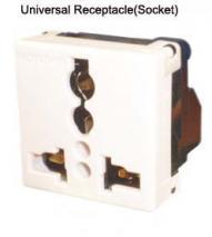 Receptacle UniR4T 110V/220V available, Screw type, 7KV
