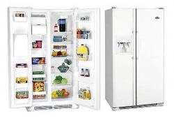 White Westinghouse WRSR25V5CW Side By Side Refrigerator For 220 Volts