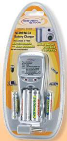 WSS808 AA and AAA Battery Charger-110-240 Volt 50-60 Hz Dual Voltage to use in any Country.