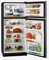 White Westinghouse WRTD20V4GW Top Mount Refrigerator 220-240 Volt 50/60Hz