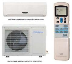 White Westinghouse WSAR09PSAMB 9000 BTU split air conditioner FOR 220/240 VOLTS