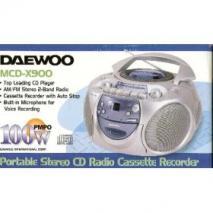 Daewoo MCD-X990M/X980 Portable Boom Box for 110-240 Volts MP3-CD Playback