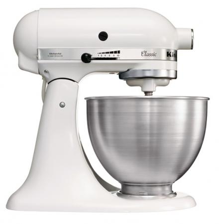 White Kitchenaid Mixer kitchenaid 5ksm45ewh classic series tilt head stand mixer | 220