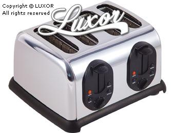 Luxor LX4SS 220V Stainless Steel 4 Slice Toaster for 220 volts