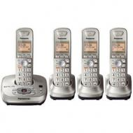 Panasonic KX-TGE445B DECT 6.0 Expandable Cordless Phone System with Digital Answering System - Black 110-220 VOLTS