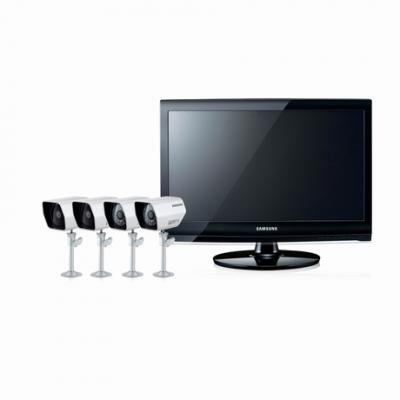 Samsung SME-2220 LCD 8CH DVR Security Kit with 600TVL Resolution for 110-240 volts