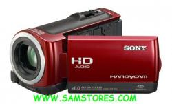 SONY HDR-CX100 HD 8GB FLASH PAL CAMCORDER (RED)