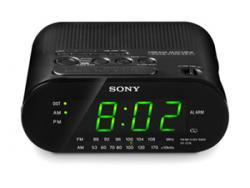 Sony ICF-218 AM/FM Clock Radio 220/240 Volts 50 Hertz