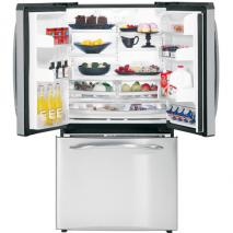 GE PFSE5NJZD SS 25.1 CU. FT. Stainless Steel 220 VOLT APPLIANCES THREE-DOOR REFRIGERATORS