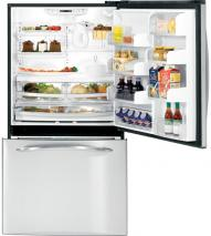 GE PDSE5NBWJ SS 25.3 CU. FT. STAINLESS STEEL 220 VOLTS BOTTOM FREEZER