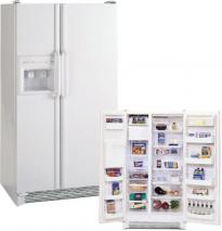 Amana SXD524VW Side-by-Side 24CFT Refrigerator for 220/240 volts