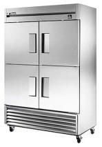 True TRTS49-4 Commercial Solid Half Swing Door Stainless Steel Refrigerator 230-240 Volt