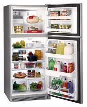Frigidaire FGTD23V6MM 20.3 Cu. Ft. Premium Silver Top Mount Refrigerator 220 Volt