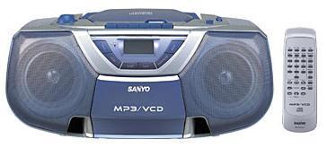SANYO MCD-ZX99 Portable Boom Box  with Video CD play back